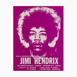 Póster de concierto de Jimi Hendrix vintage, 1969