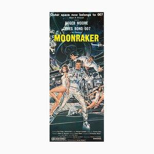 Poster del film James Bond Moonraker vintage, 1979