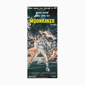 Vintage James Bond Moonraker Film Poster, 1979
