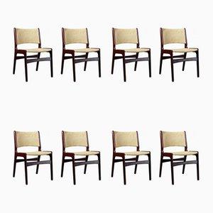 Chaises de Salle à Manger Modèle 89 Mid-Century en Palissandre par Erik Buch, Danemark, 1960s, Set de 8