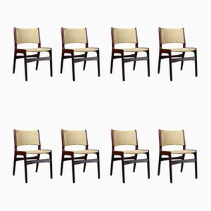 Mid-Century Danish Rosewood Model 89 Dining Chairs by Erik Buch, 1960s, Set of 8