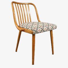 Vintage Bentwood Teak Slatted Chair, 1950s