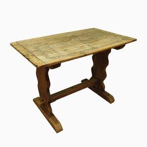 Tavolino da taverna antico in quercia