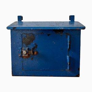 Blauer Vintage Briefkasten, 1950er