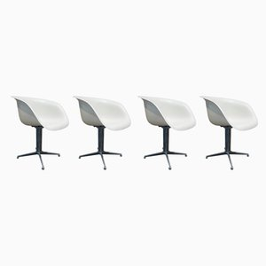 Aluminum Lounge Chairs by Charles & Ray Eames for Herman Miller, 1950s, Set of 4