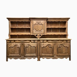 Large Antique French Bleached Oak Sideboard