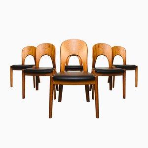Chaises de Salle à Manger Morten Mid-Century en Teck par Niels Koefoed Koefoed pour Hornslet, 1960s, Set de 6