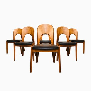 Mid-Century Teak Morten Dining Chairs by Niels Koefoed Koefoed for Hornslet, 1960s, Set of 6