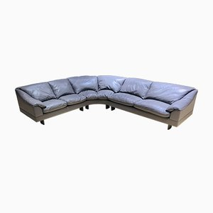 Mid-Century Italian Taupe Leather Sofa from Poltrona Frau, 1960s