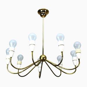 Lámpara de araña de latón de Rupert Nikoll para Nikoll, años 50