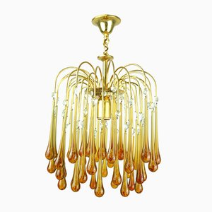 Murano Glass Waterfall Chandelier, 1960s