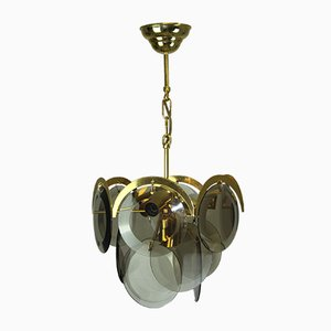 Lámpara de araña italiana Mid-Century de Vistosi, años 60