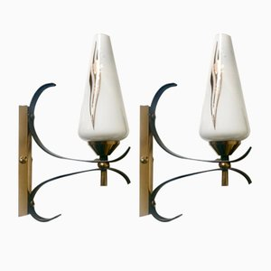 Sconces from Lunel, 1950s, Set of 2
