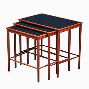Tables Gigognes en Teck par Grete Jalk pour Poul Jeppesens Møbelfabrik, Set de 3