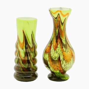 Opaline Space Age Vases from Opaline florance, 1950s, Set of 2