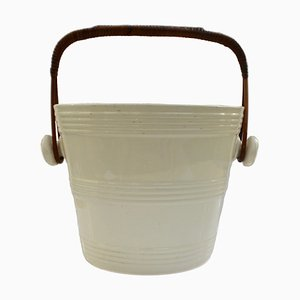 Antique Belgian Ice Bucket by Boch Freres Keramis for Boch Frères
