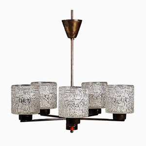 Chandelier by Carl Fagerlund for Orrefors, 1950s