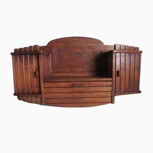 Mobiletto Art Deco in teak, anni '50