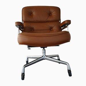 Sedia da scrivania ES 104 in pelle di Charles & Ray Eames per Herman Miller, 1978
