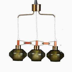 Lampe à Suspension en Verre par Carl Fagerlund, 1961