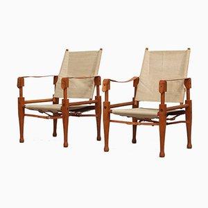 Sessel von Wilhelm Kienzle für Wohnbedarf, 1950er, 2er Set