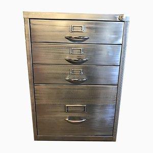 Vintage Industrial Stripped Metal Cabinet, 1980s