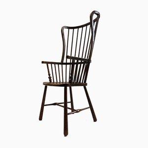 Antiker Windsor Armlehnstuhl aus Birke & Eschenholz