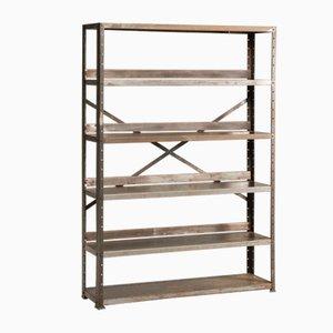 Mid-Century Industrial Iron Bookcase