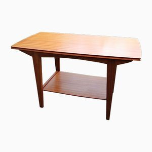 Table Basse Compacte en Placage de Teck et Hêtre par Peter Hayward pour Vanson, 1960s