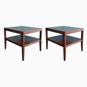 Teak Side Tables, 1960s, Set of 2
