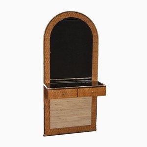 Consola italiana de madera y latón, años 70