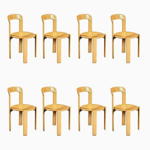 Dining Chairs by Bruno Rey Dietiker for Mobilier International, 1970s, Set of 8
