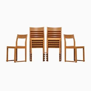 Stapelbare schwedische Esszimmerstühle von Sven Markelius, 1931, 12er Set