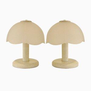 Lámparas de mesa vintage, años 80. Juego de 2