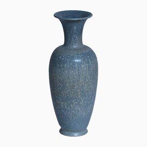 Vaso smaltato blu di Gunnar Nylund per Rörstrand, Svezia, anni '40