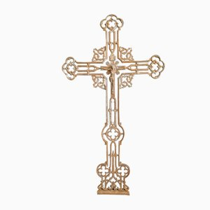 Large Antique Gothic French Iron Cross