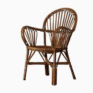 Mid-Century Stuhl aus Bambus, 1960er