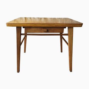 Mid-Century Beech Wood Side Table from Baumann
