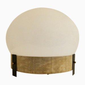 Tischlampe aus Muranoglas & Samt, 1970er
