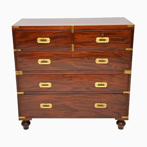 Antique Mahogany and Brass Chest of Drawers