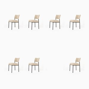 Model 764 Dining Chairs by Joseph-André Motte for Steiner, 1950s, Set of 10
