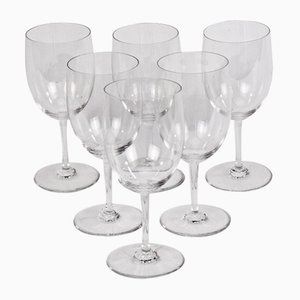 Perfection White Wine Glasses from Baccarat, 1970s, Set of 6