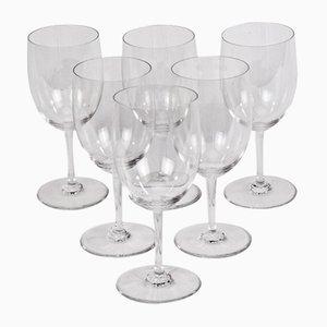 Verres à Vin Blanc Perfection de Baccarat, 1970s, Set de 6