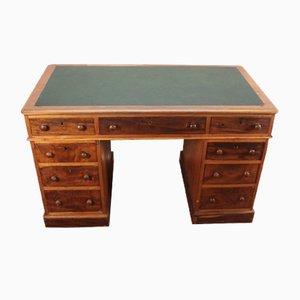 Vintage Mahogany Pedestal Desk, 1960s