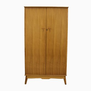 Walnut and Walnut Veneer Wardrobe by Alfred Cox for Heal's, 1960s