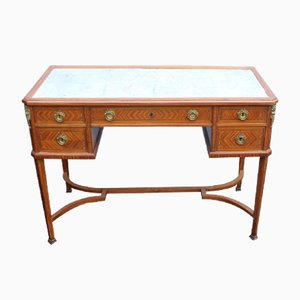 French Antique Walnut Desk, 1900s