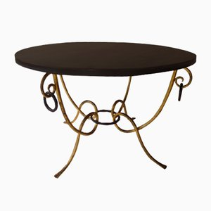 Round Coffee Table from Rene Drouet, 1940s