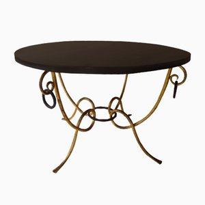 Table Basse Ronde de René Drouet, 1940s