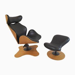 Sessel & Fußhocker von Toshiyuki Kita für Stokke, 2000er