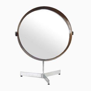 Miroir Mid-Century en Palissandre par Östen Kristiansson pour Luxus